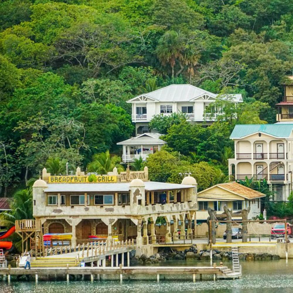 Stadje aan zee in Honduras